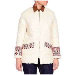 Mango embroidered spring/fall jacket